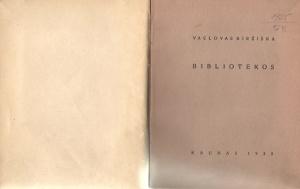 VACLOVAS BIRŽIŠKA BIBLIOTEKOS