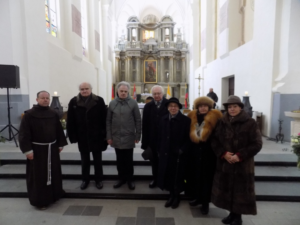 XXVII KMD nariai šv. Jurgio konvente, po šv. Mišių už Draugijos narius