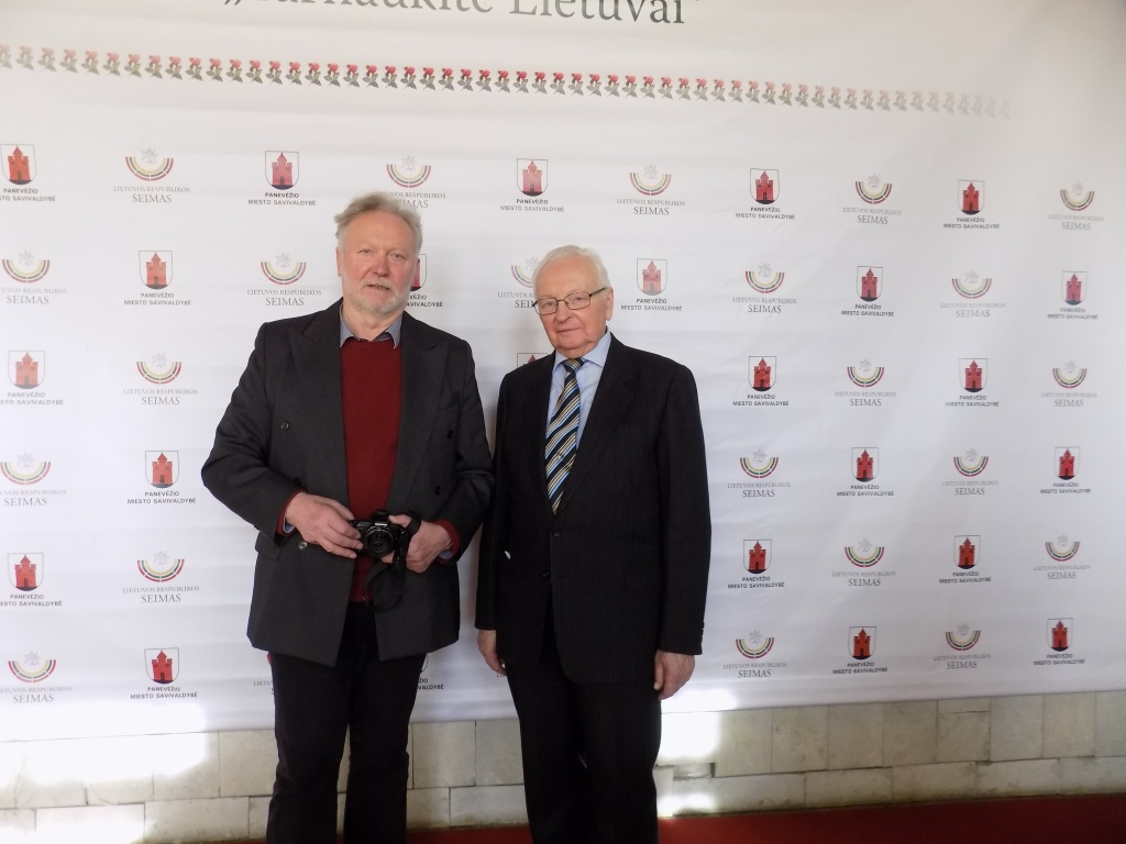medalio Tarnaukite Lietuvai nominantai - Draugijos nariai žurnalistas Gediminas Zemlickas ir Dominikas Petras Akstinas