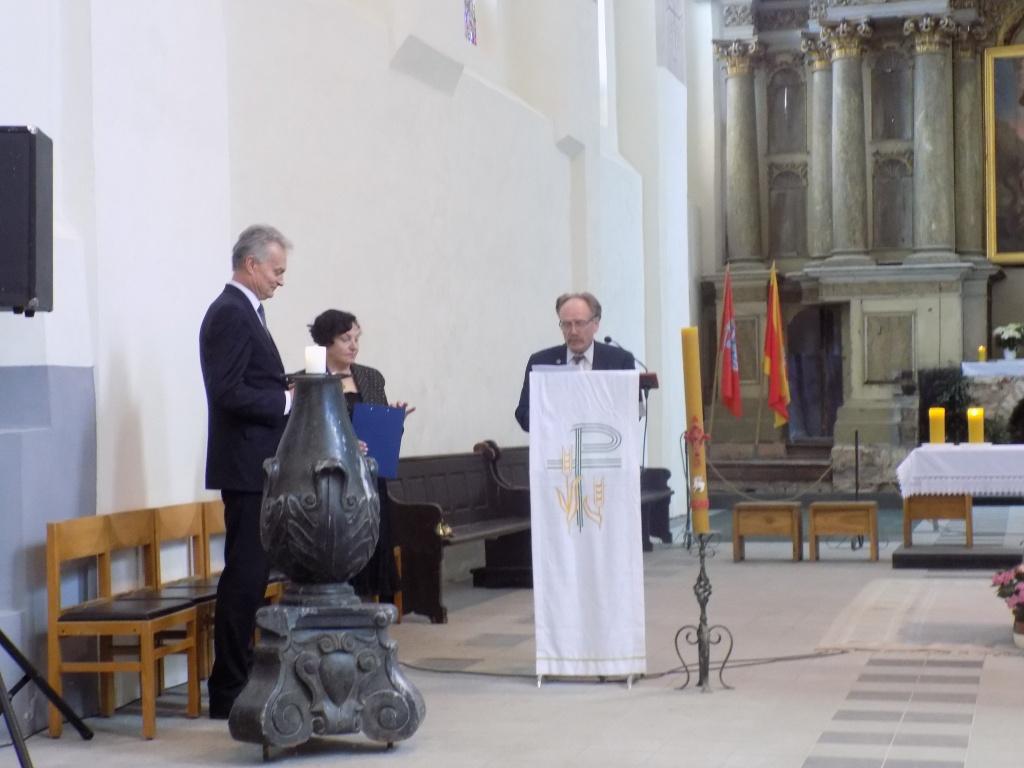 Šv.Jurgio bažnyčioje - svečias bibliofilas G.Nausėda