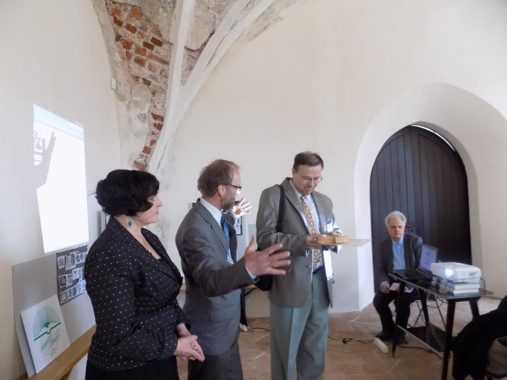 D.Poškienė,V.Kubilius ir Kaliningrado LB pirm. Sigitas Šamborskis