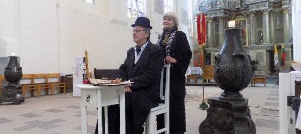 Spektaklis apie Vaižgantą šv.Jurgio bažnyčioje