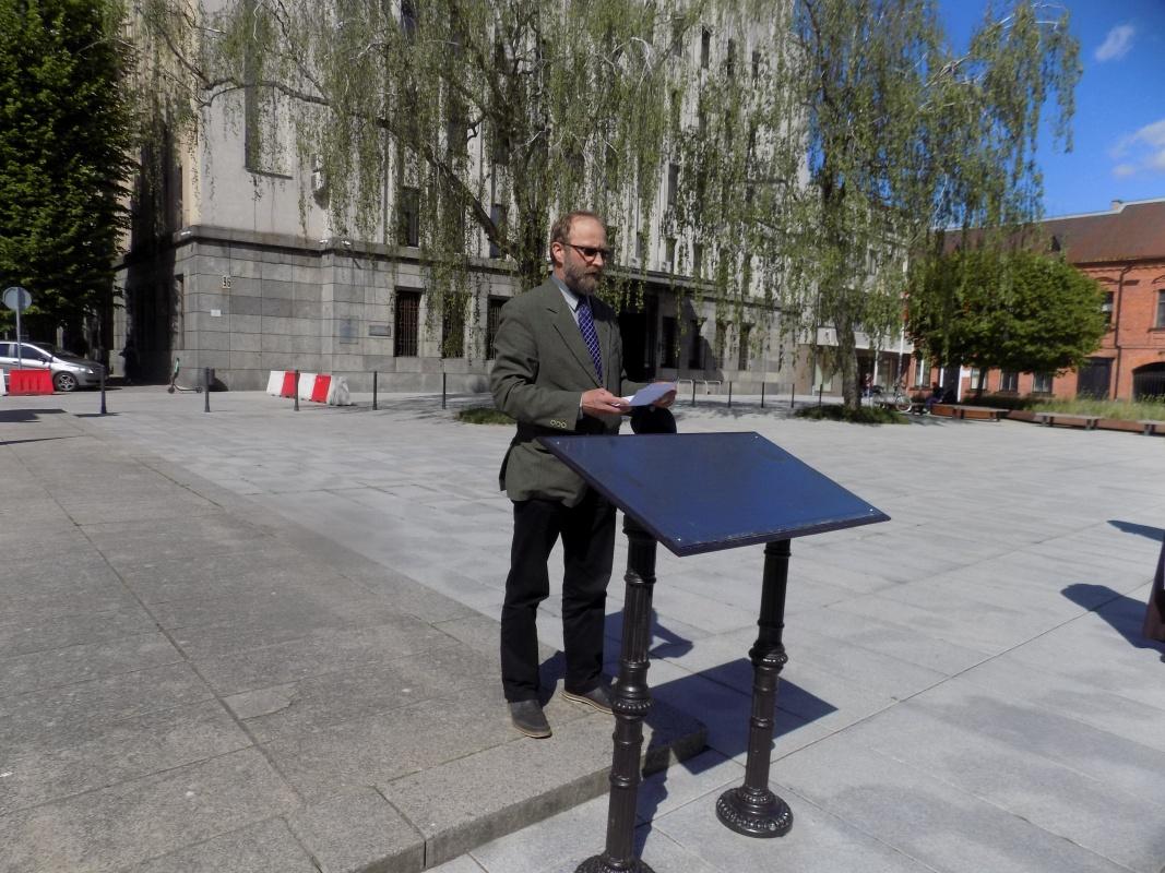 Renginio vedėjas, ceremonijos sumanytojas ir organizatorius , Pasaulio lietuvių centro direktorius, XXVII KMD valdybos narys Valdas Kubilius